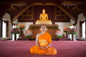Meditating at Wat Baan Kun