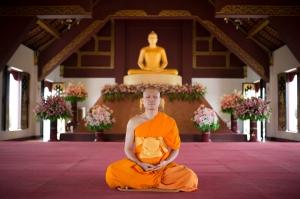 Meditating at Wat Baan Kun